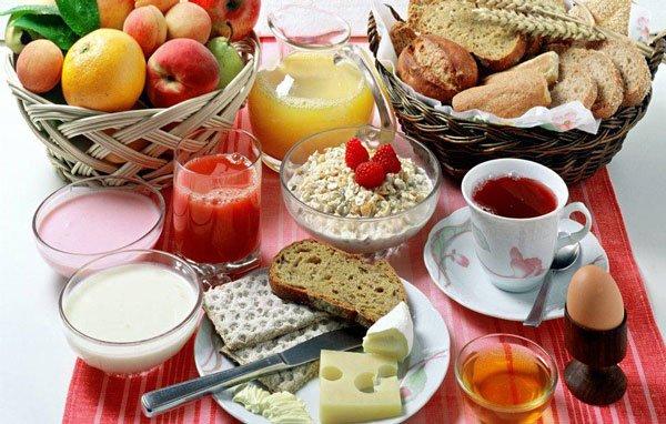 Меню правильного завтрака