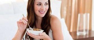 Меню правильного завтрака для похудения
