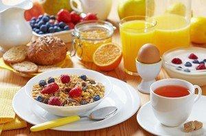 Правильный завтрак - меню