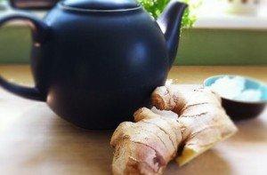 Чай имбирь и чеснок