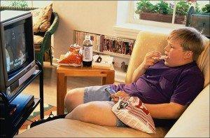 Еда перед телевизором - привычки для похудения