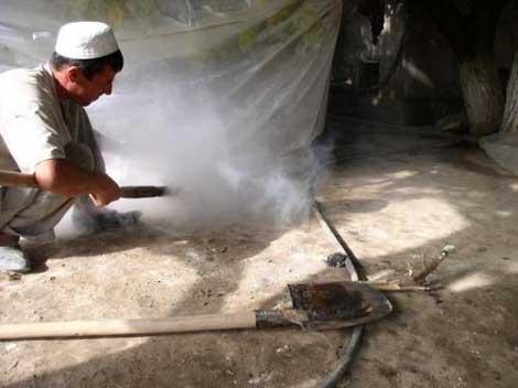 Врел сухофруктов - окуривание серой